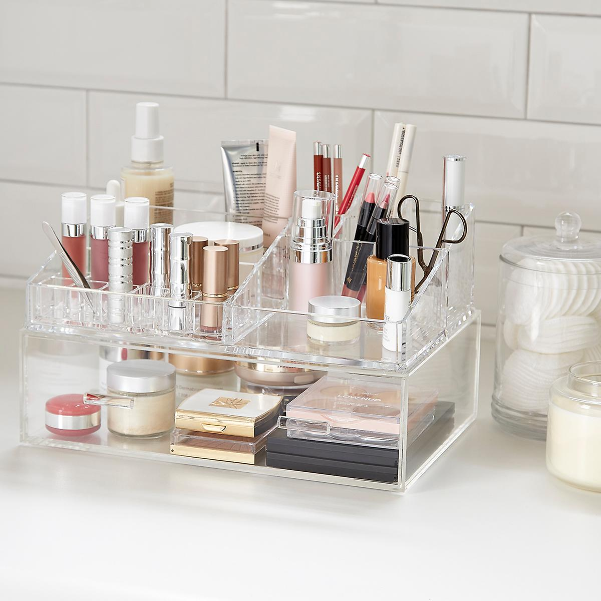 Luxe Acrylic Makeup Organizer Storage Kit The Container Store