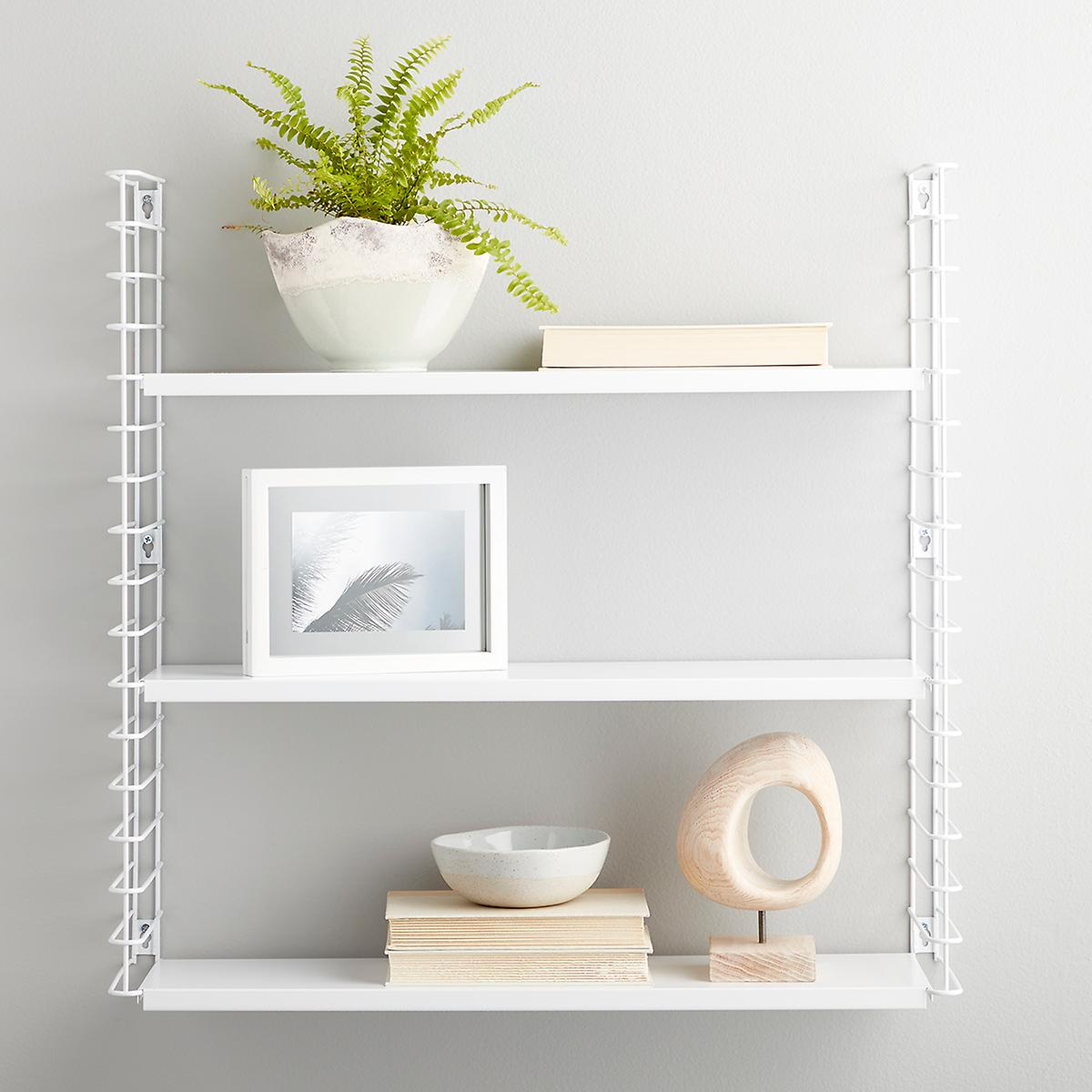 White Metal Libro Wall Shelf The