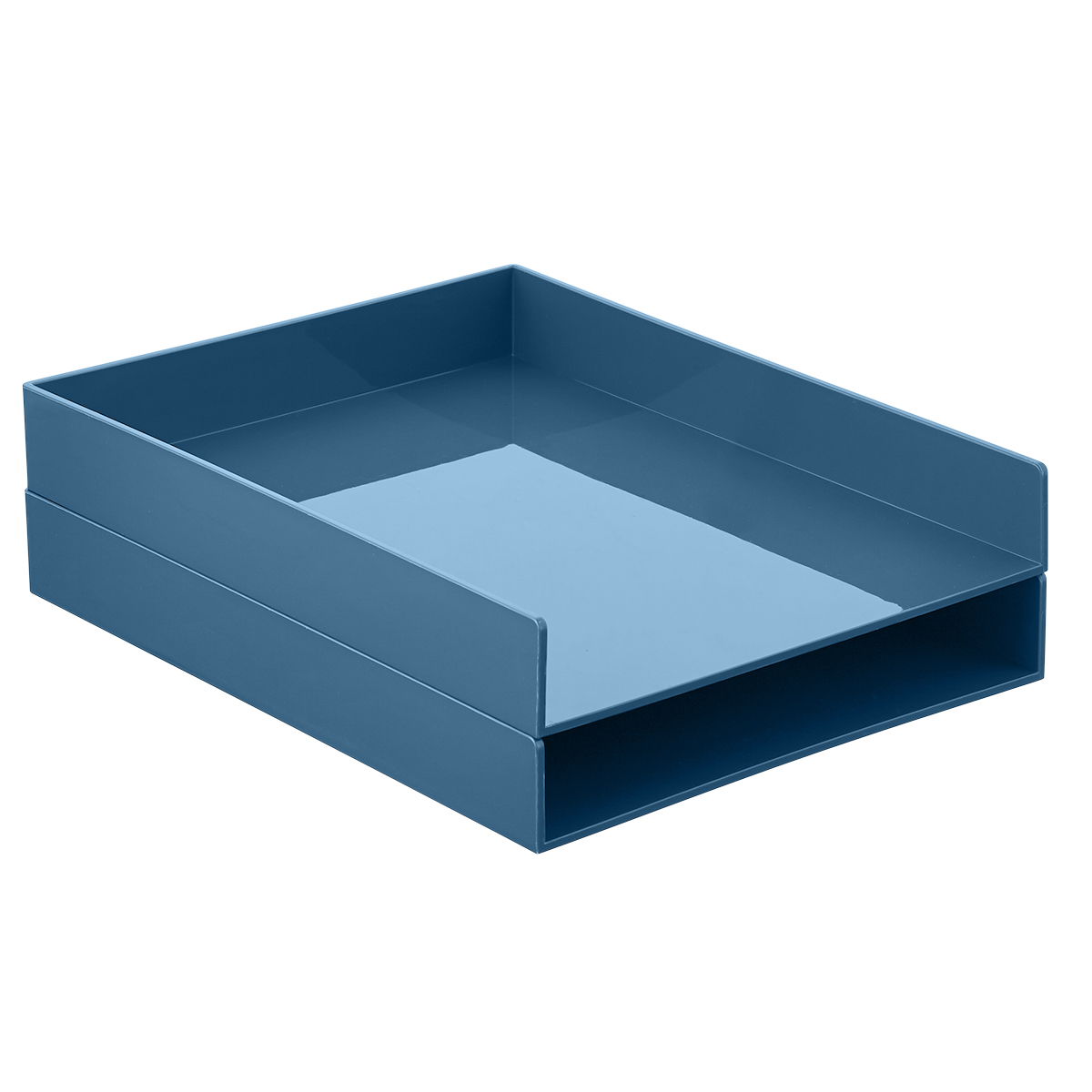 Charmant Slate Blue Poppin Stackable Letter Tray ...