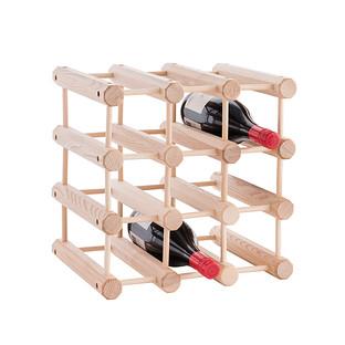 J K Adams Hardwood 12 Bottle Wine Rack
