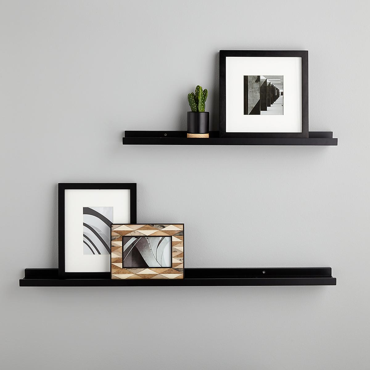 Black Ledge Wall Shelves