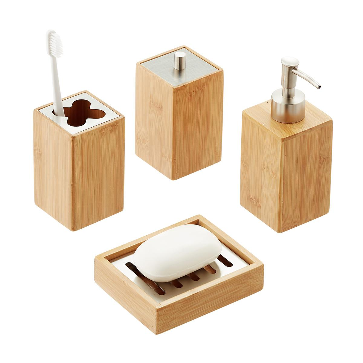 Bamboo Countertop Bathroom Set | The Container Store
