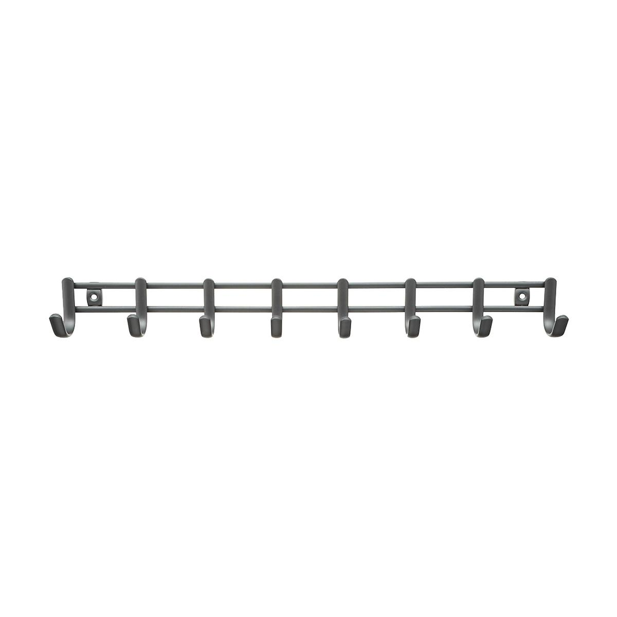 Idesign Axis Graphite Horizontal Tie Belt Rack