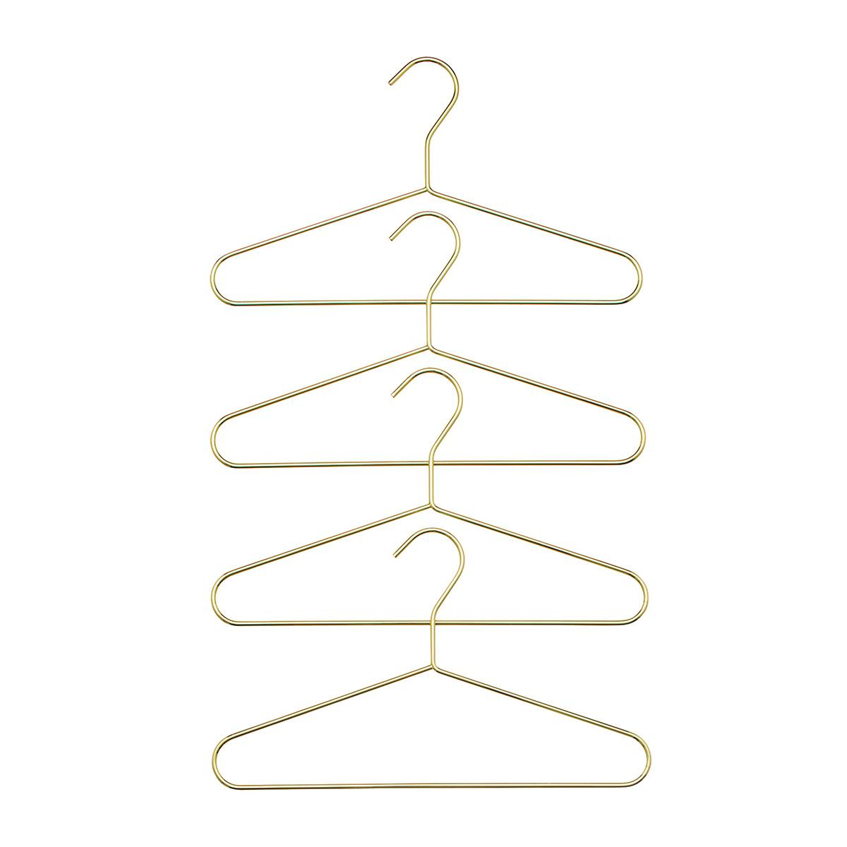 Kids Gold Metal Hangers Pkg 4 The Container Store
