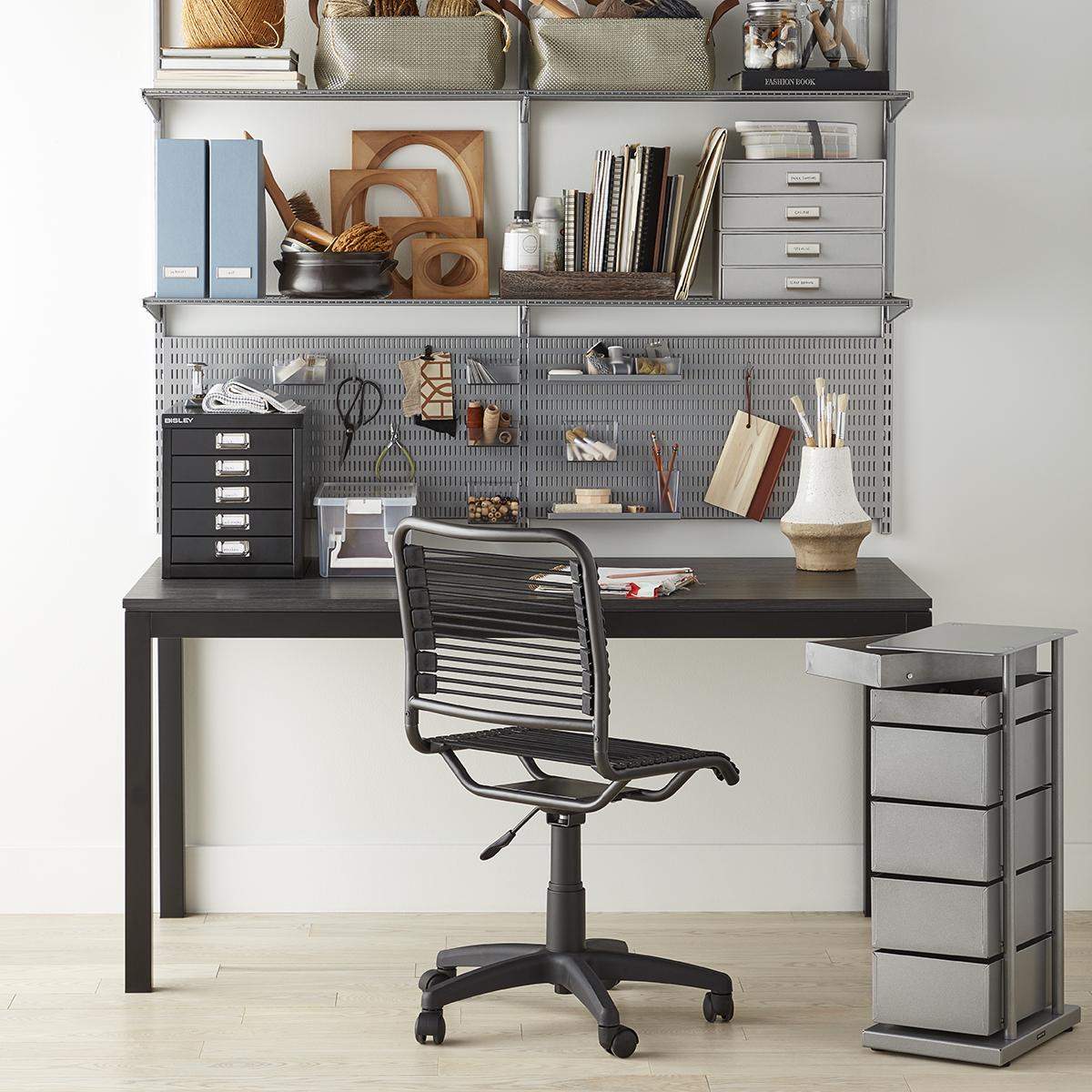 Platinum Elfa Home Office Shelving