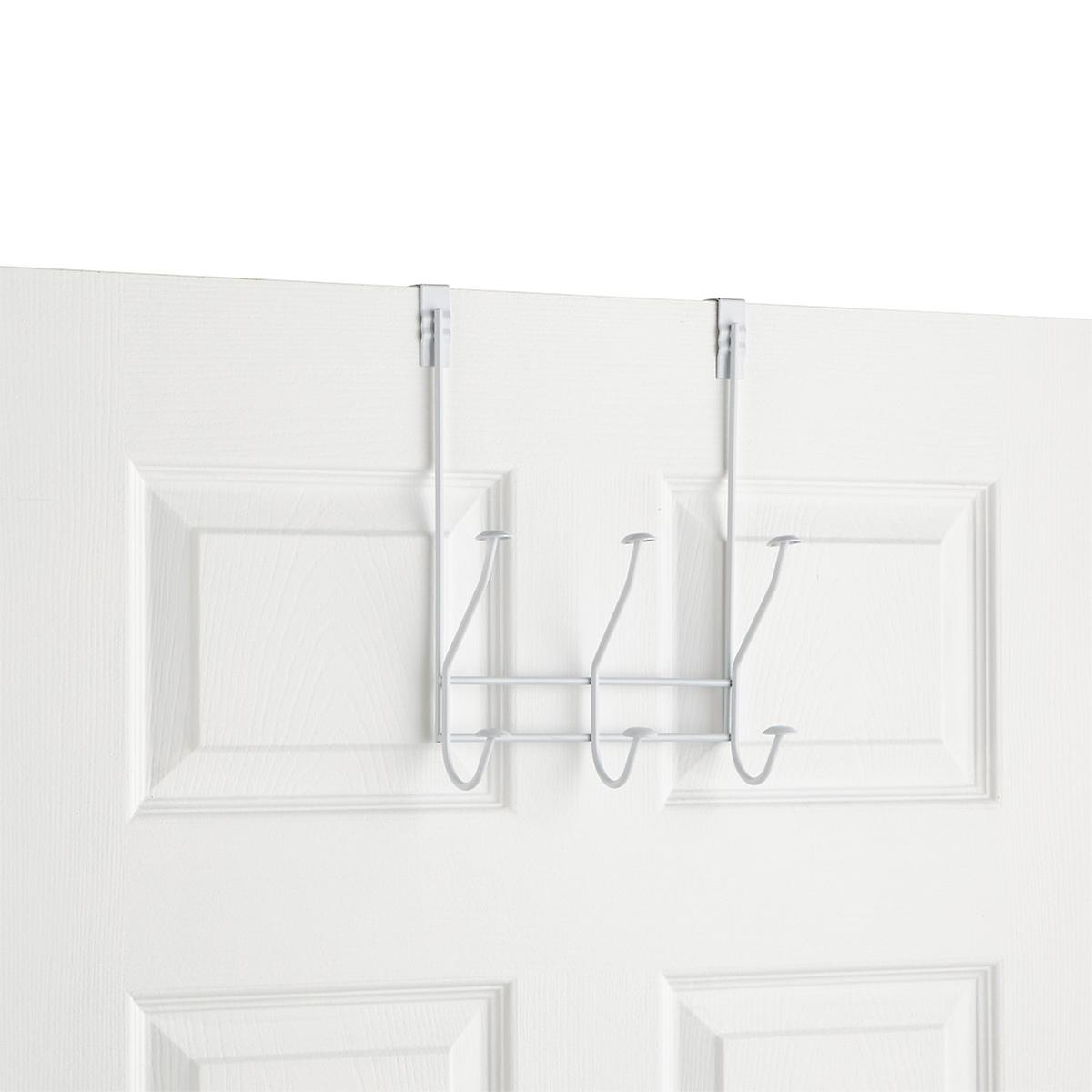 White 3 Double Hook Windsor Over The Door Rack The Container Store