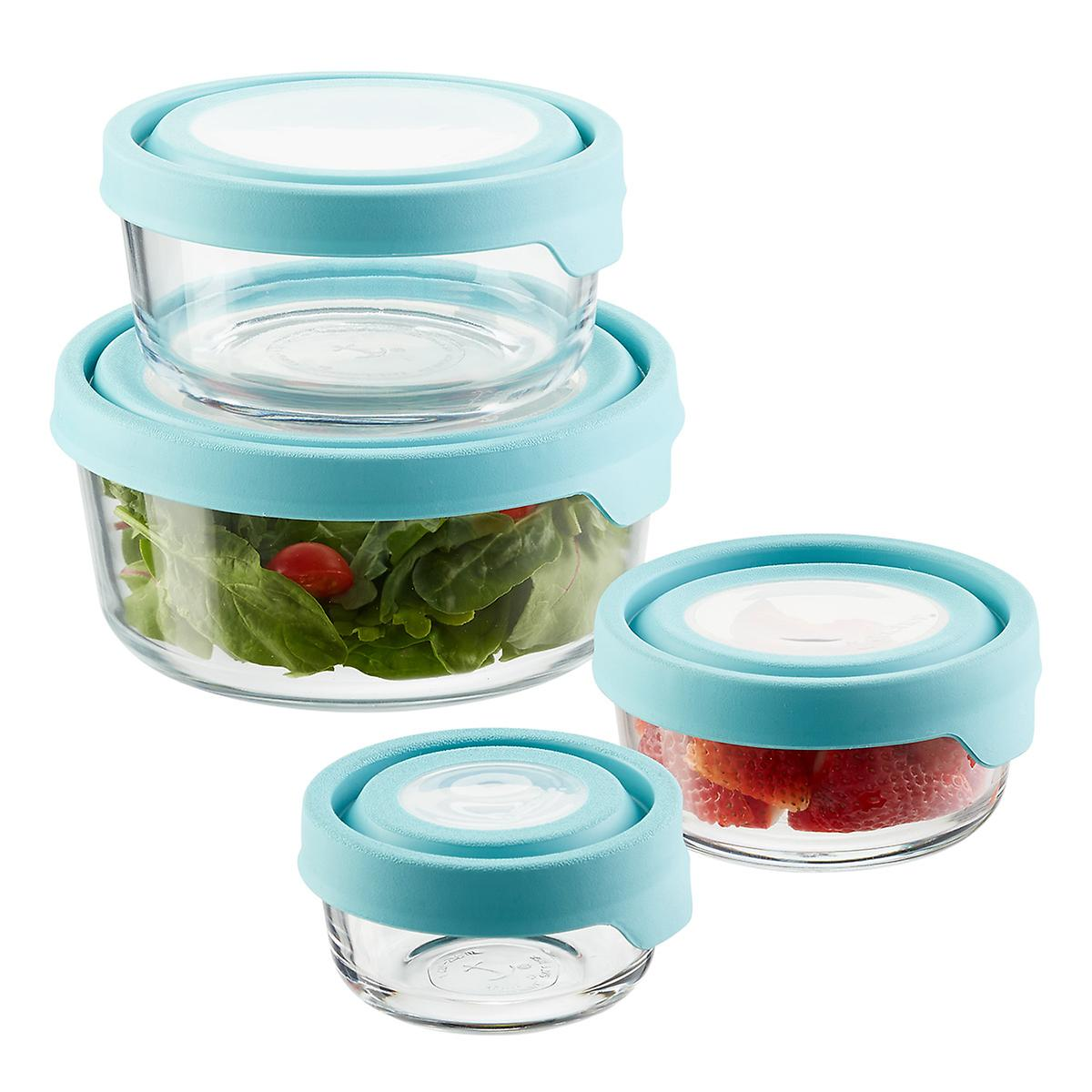 Anchor Hocking Glass TrueSeal Round Food Storage Containers with ...