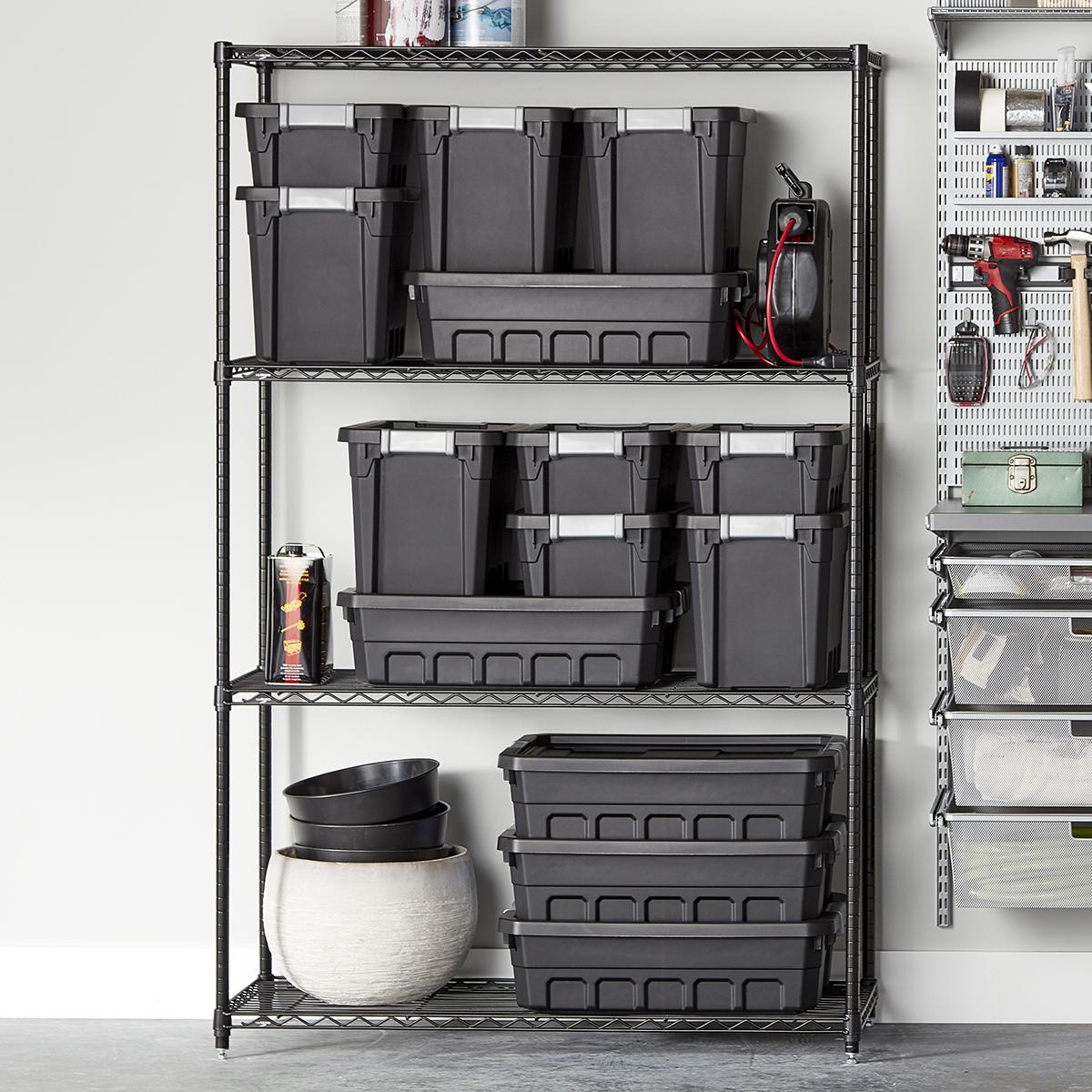 Intermetro Black 4 Shelf Starter Unit