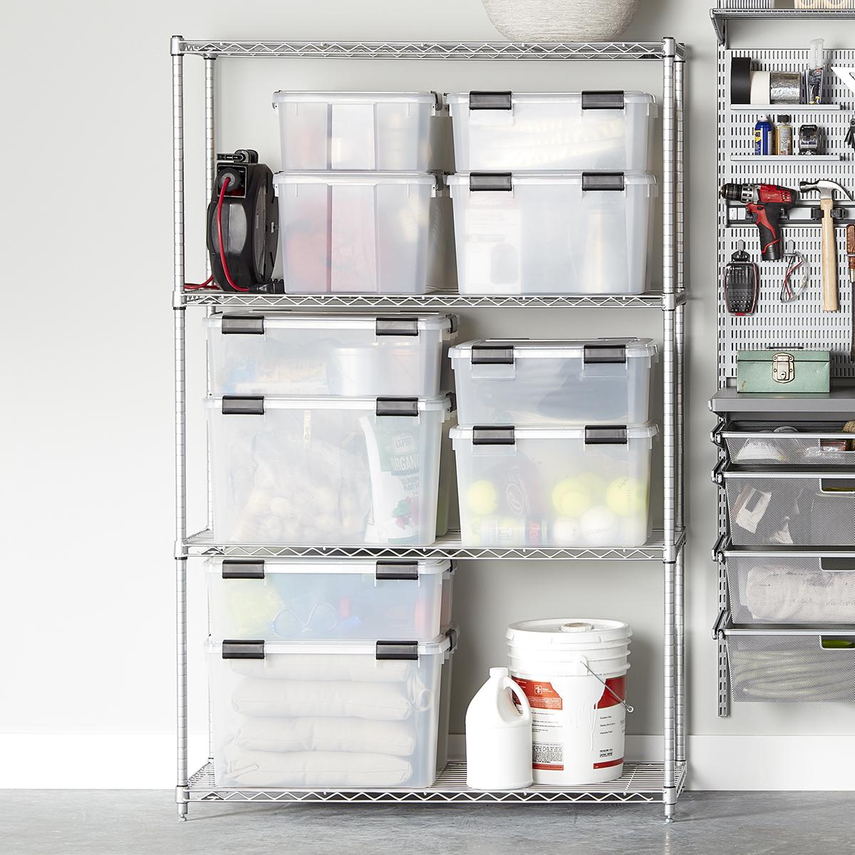 Intermetro Silver 4 Shelf Starter Unit