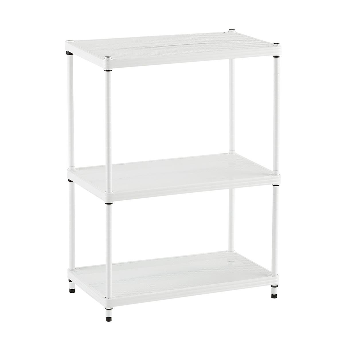 Soho white utility shelving the container store