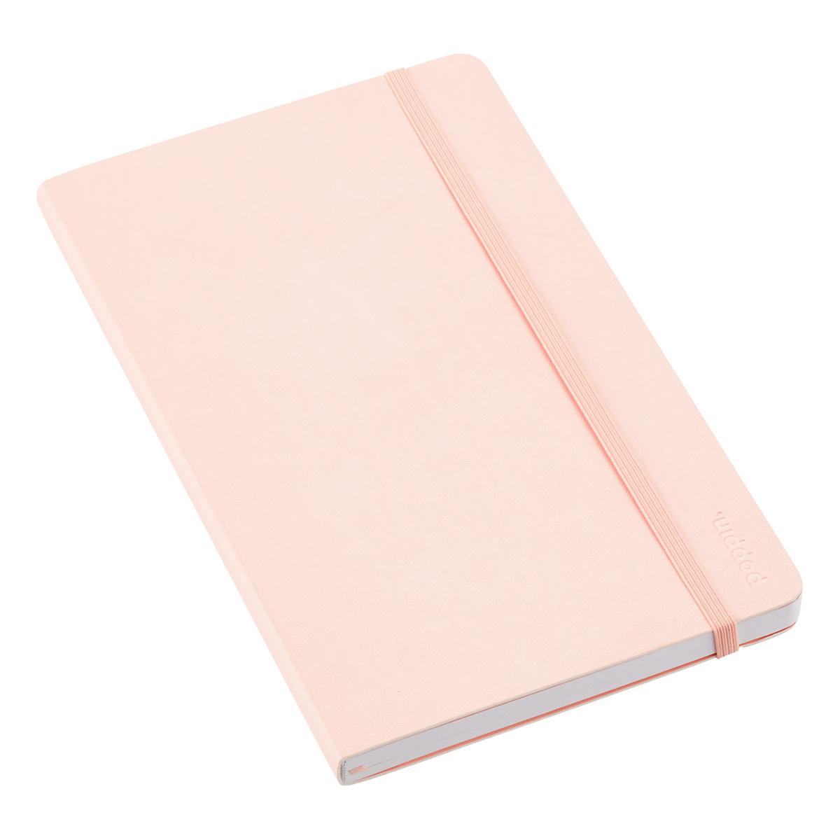 blush poppin medium soft cover notebook the container store