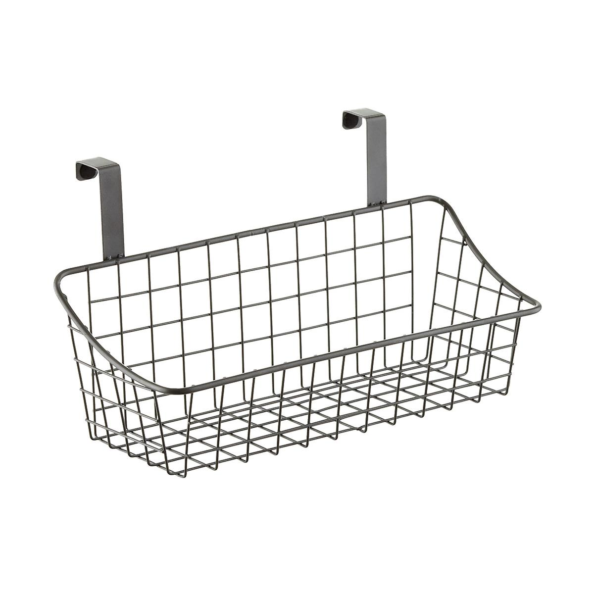 Small Grey Over The Cabinet Grid Basket The Container Store