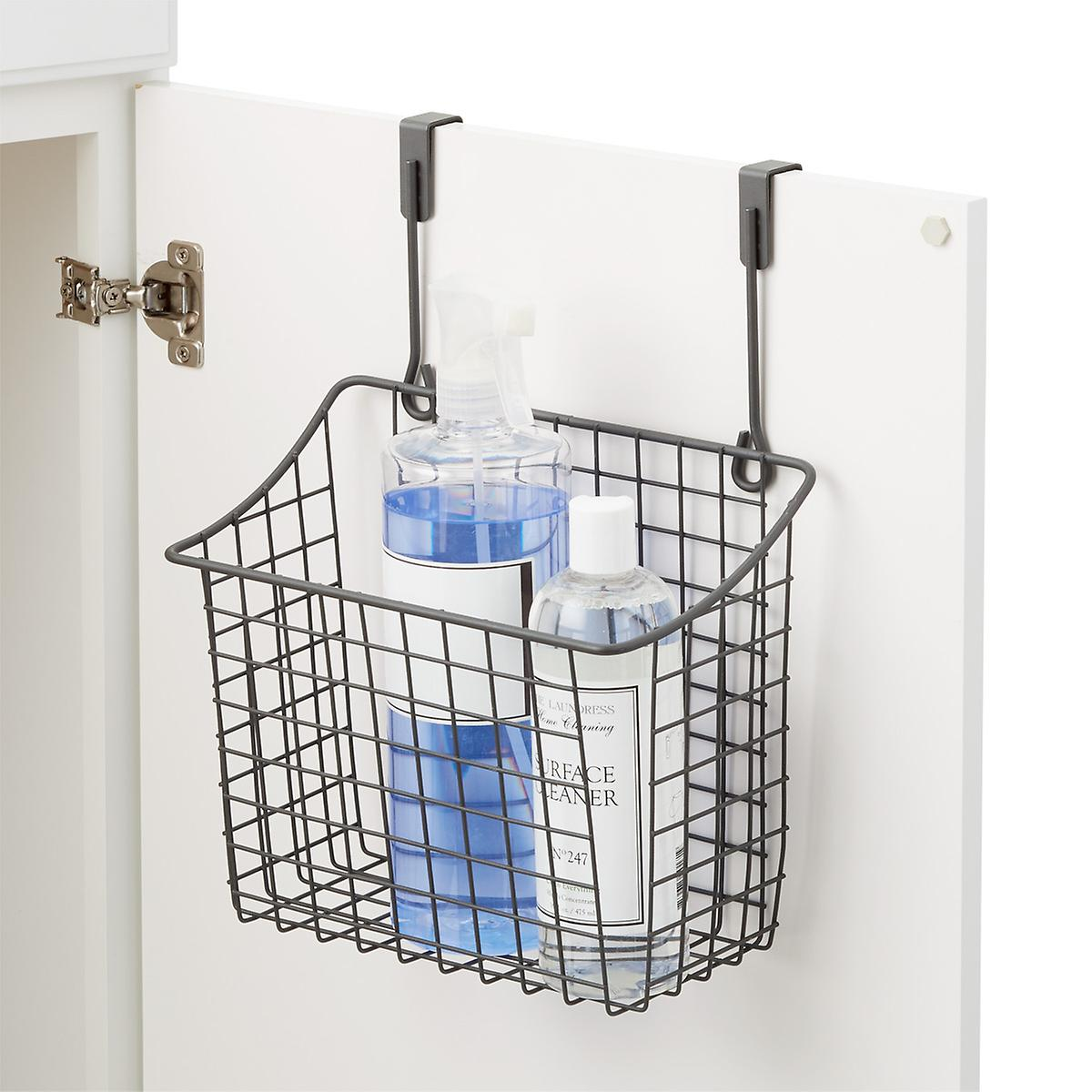 Large Grey Over The Cabinet Grid Basket The Container Store