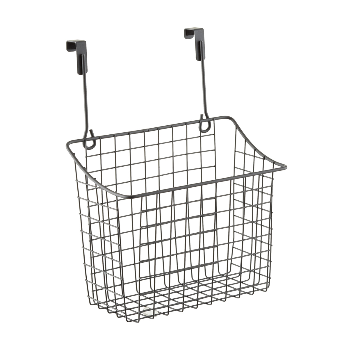 large grey over the cabinet grid basket the container store rh containerstore com over cabinet wastebasket interdesign axis over-the-cabinet x3 basket