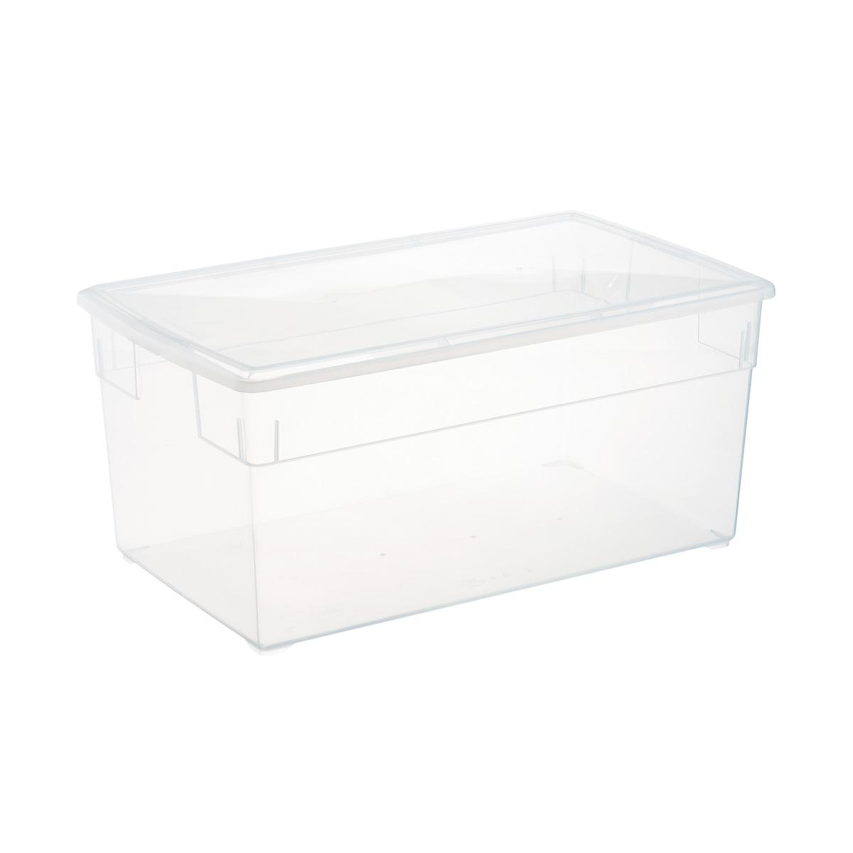 Clear Plastic Storage Bo Our Clear Storage Bo The Container Store