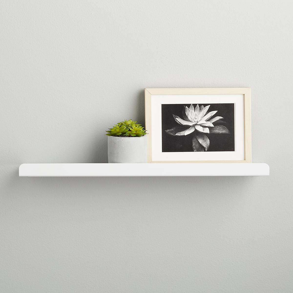 Sensational Umbra White Simple Ledge Wall Shelf Home Interior And Landscaping Eliaenasavecom
