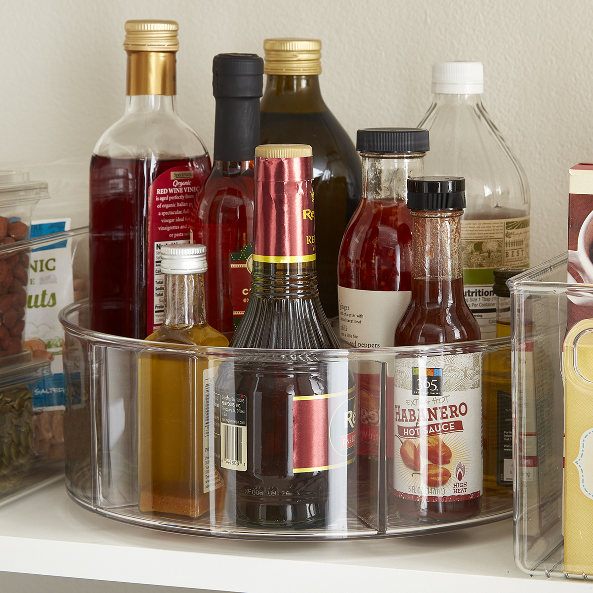 Lazy Susan - Clear Linus Divided Lazy Susan   The Container Store