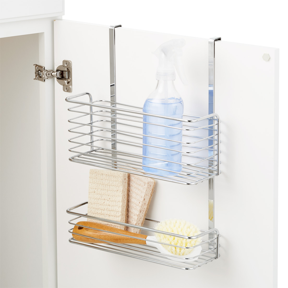 chrome over the cabinet double basket the container store rh containerstore com walmart over the cabinet basket over the cabinet basket ikea