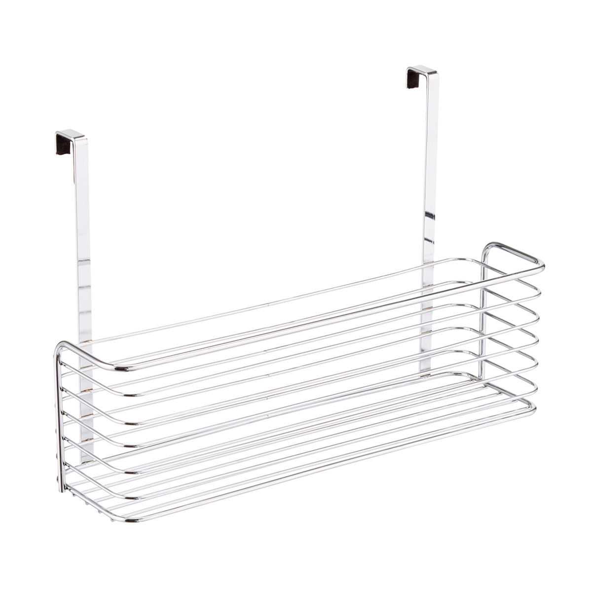 chrome over the cabinet wide basket the container store rh containerstore com over the cabinet basket ikea over the cabinet storage basket