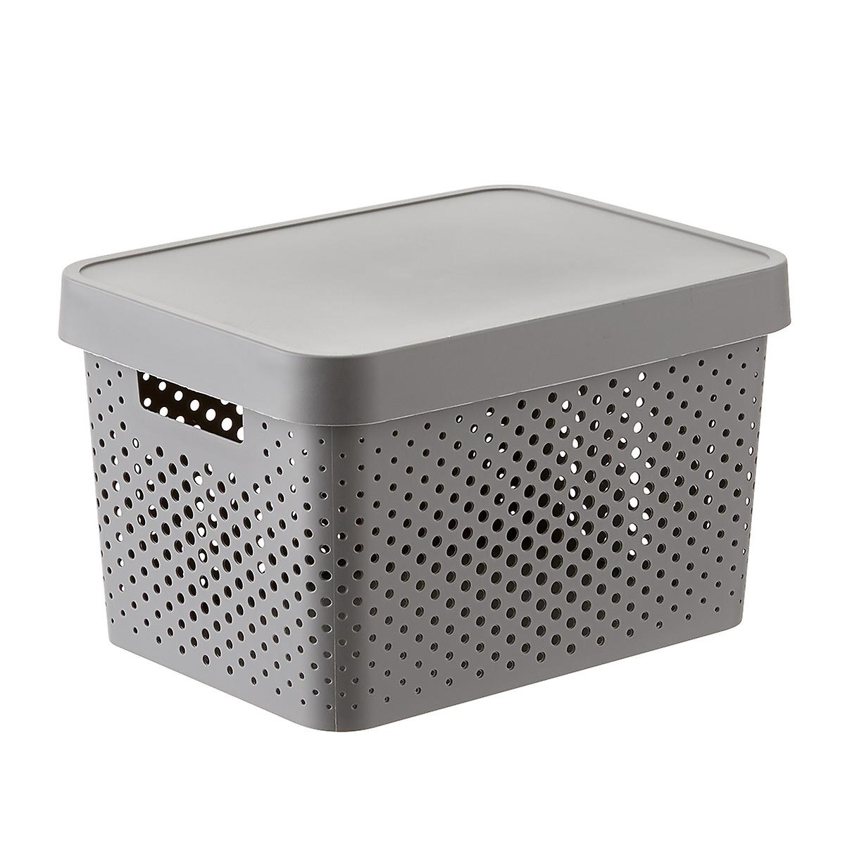 Curver Grey Infinity Plastic Storage Boxes With Lids The Container Store