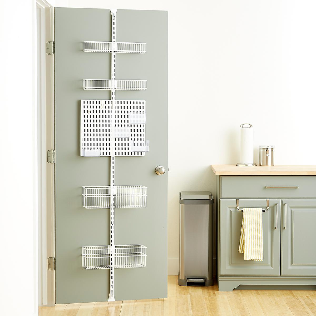 Elfa Utility White Wire Kitchen Door & Wall Rack