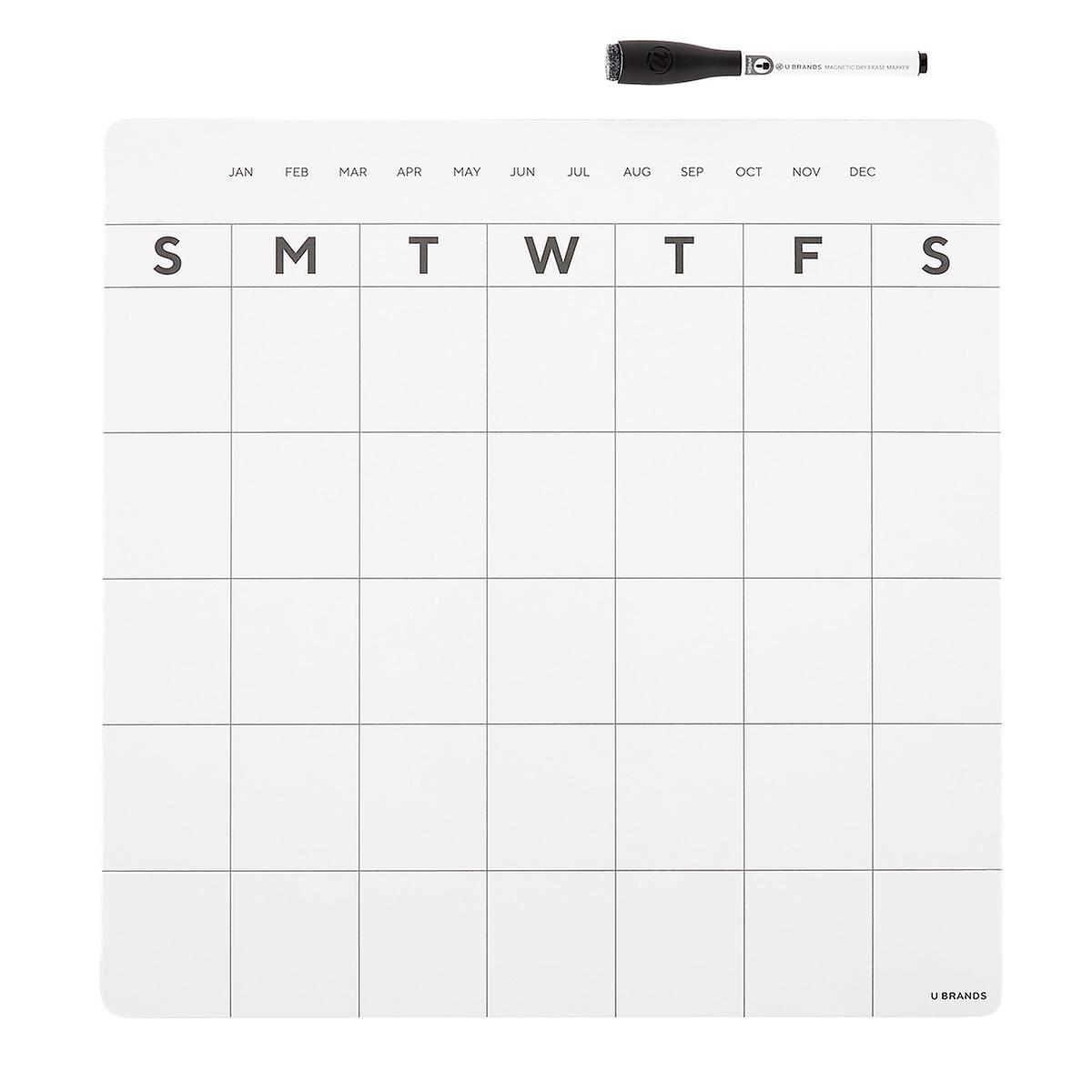 Magnetic Monthly Refrigerator Calendar The Container Store