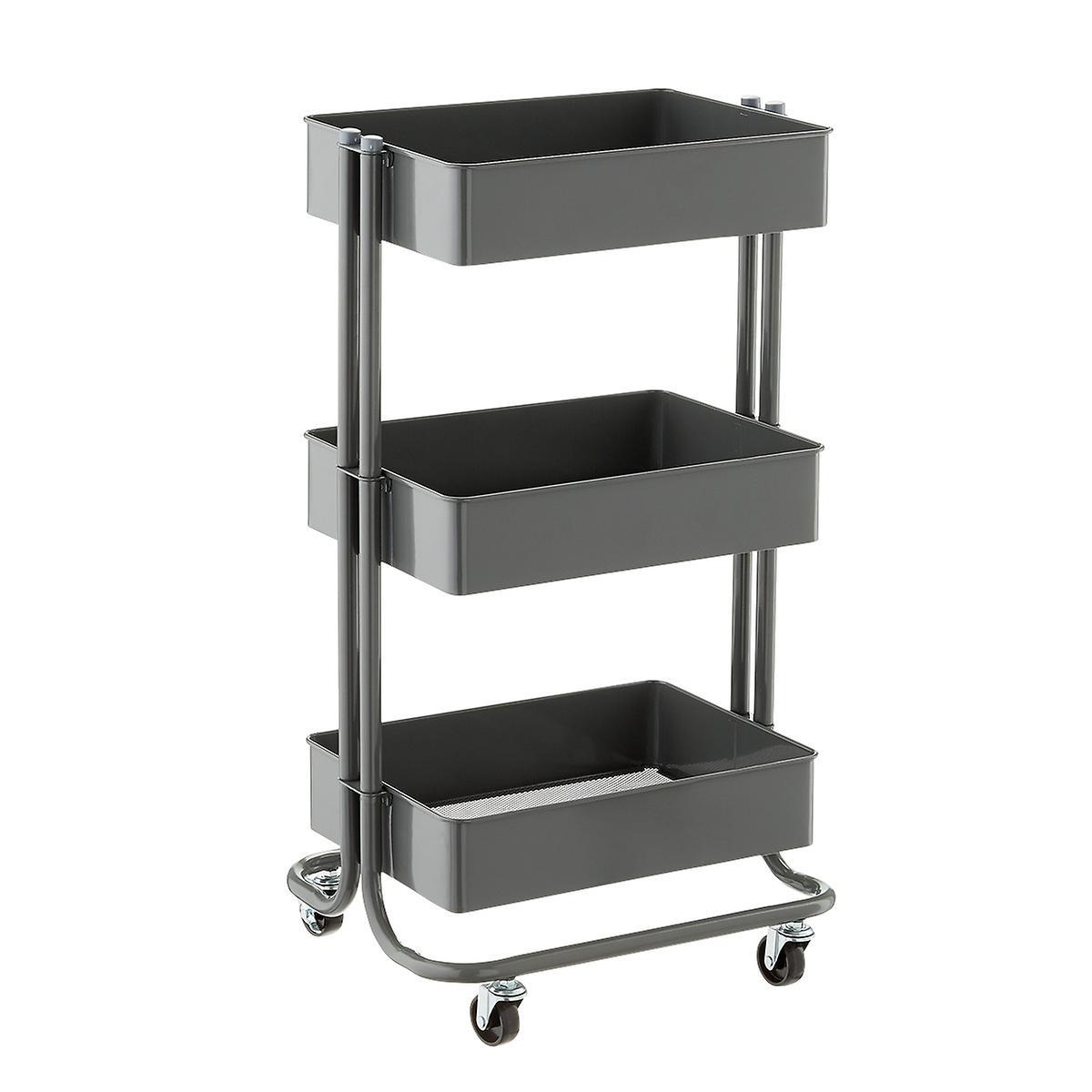 College Bath 3 Tier Rolling Cart Storage Solution