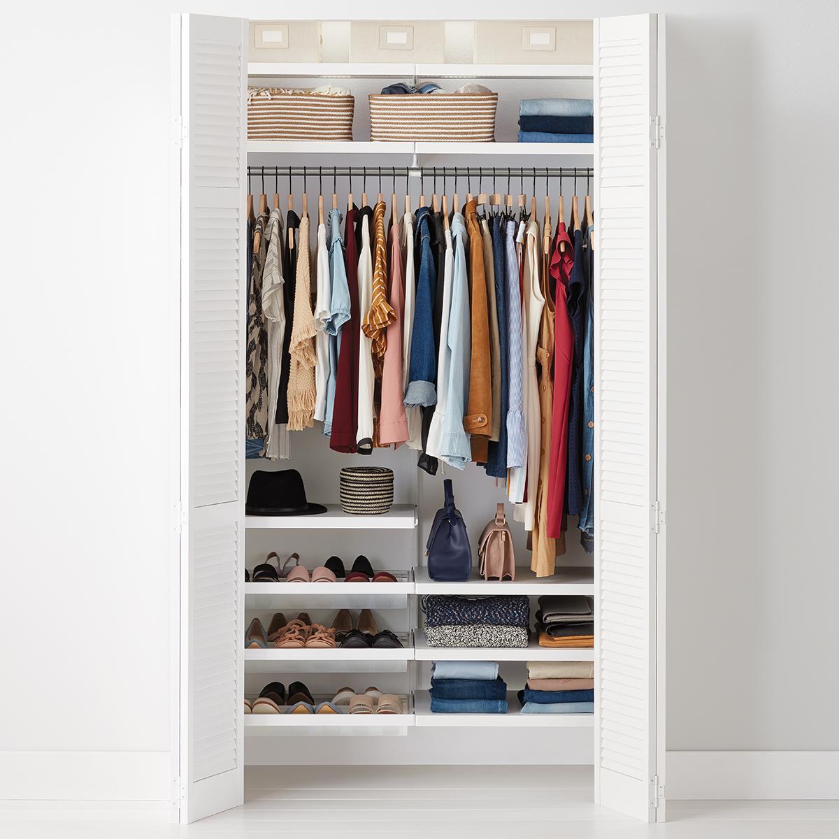 Elfa Decor 4 White Reach In Clothes Closet