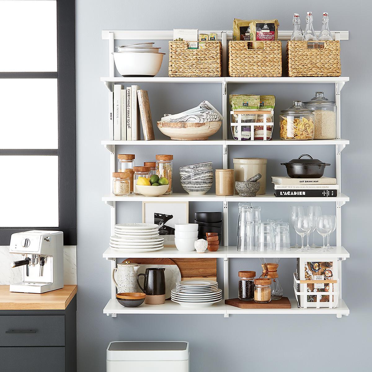 Elfa Classic 4\' Open Kitchen Shelving