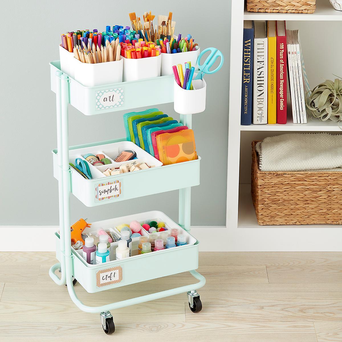 Arts Crafts Storage Cart Accessories