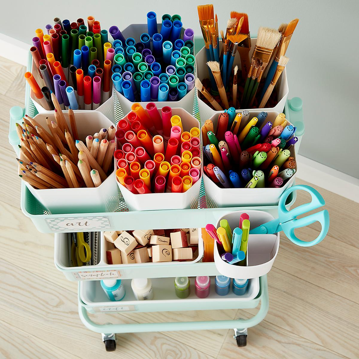 Arts Crafts Storage Cart Accessories The Container Store