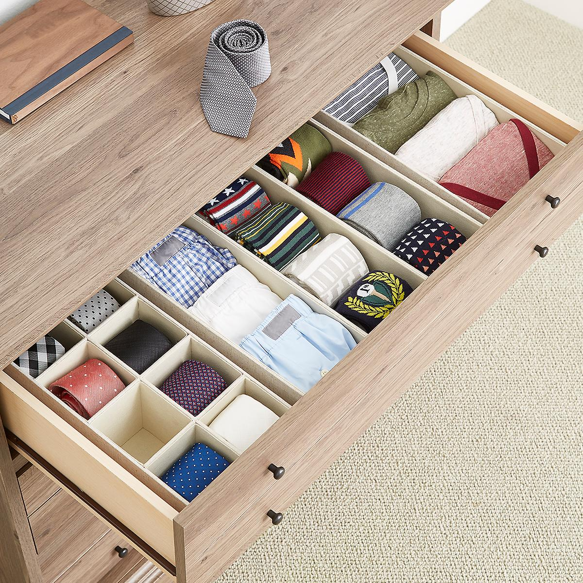 Linen Cambridge Drawer Organizers The Container Store