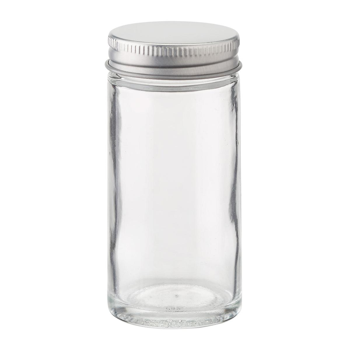 3 oz  Glass Spice Bottle with Chrome Lid