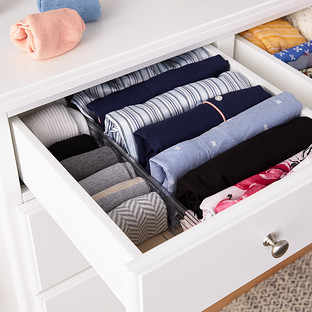 Clear Expandable Drawer Dividers