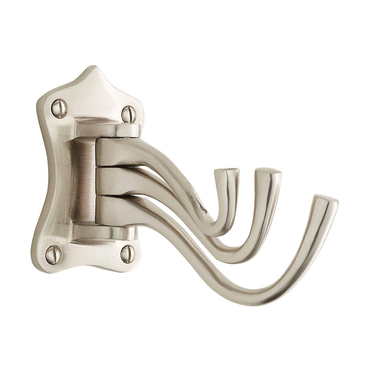 Satin Nickel Triple Swing Arm Wall Hook The Container Store