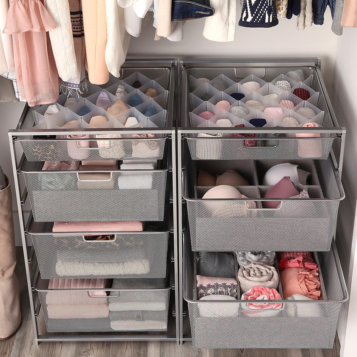Elfa Platinum Mesh Closet Drawers Solution Organizers