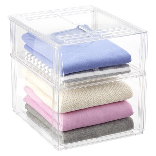 Premium Stackable Shirt & Sweater Bins | The Container Store
