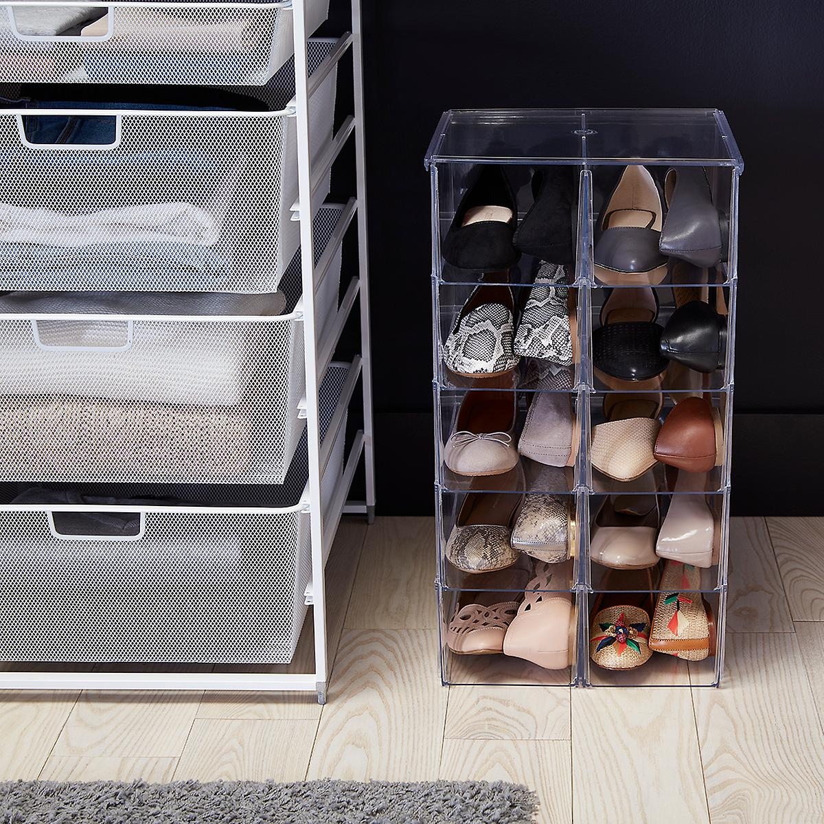 Shoe Bins Premium Stacking Shoe Bin The Container Store