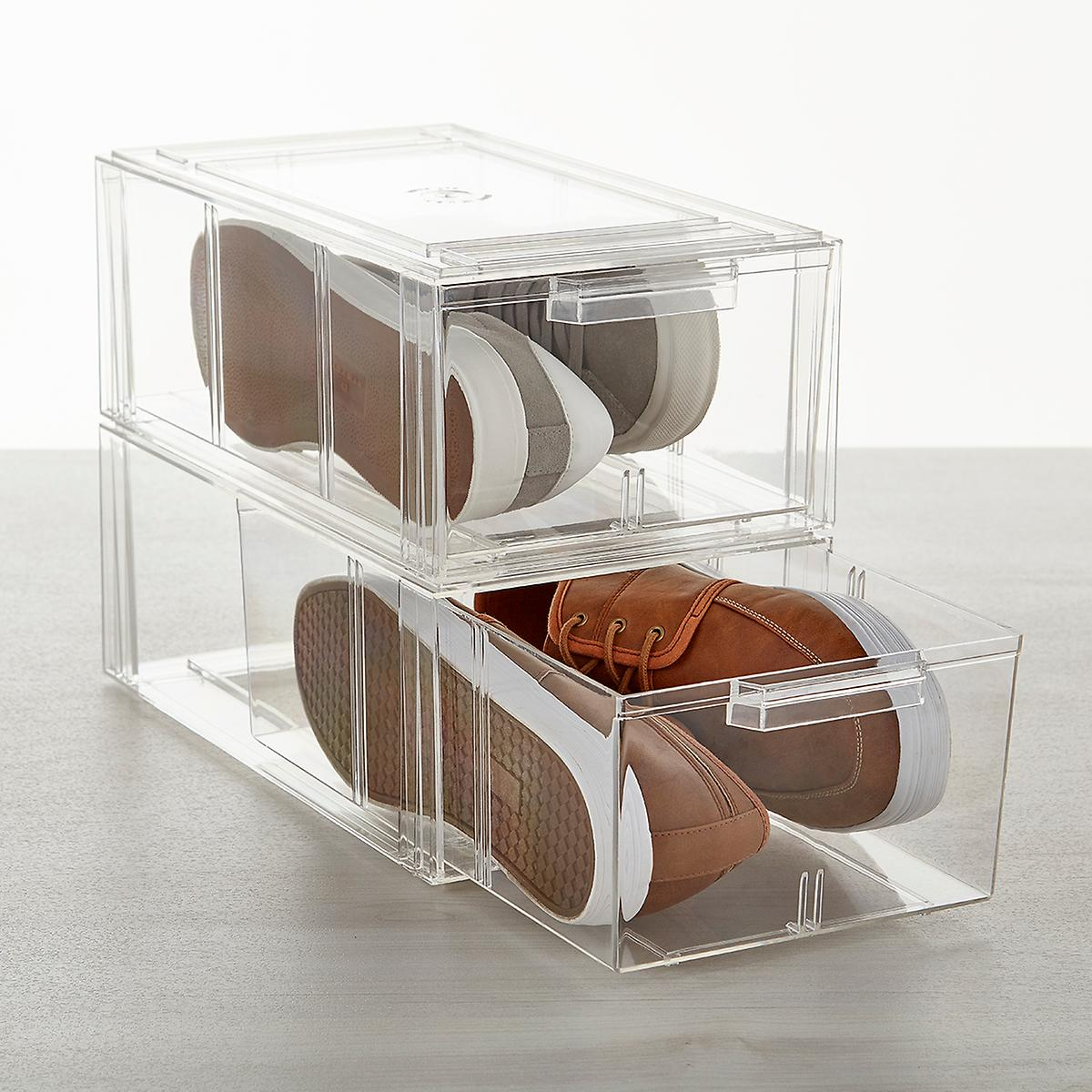 Clear Men S Athletic Shoe Drawers