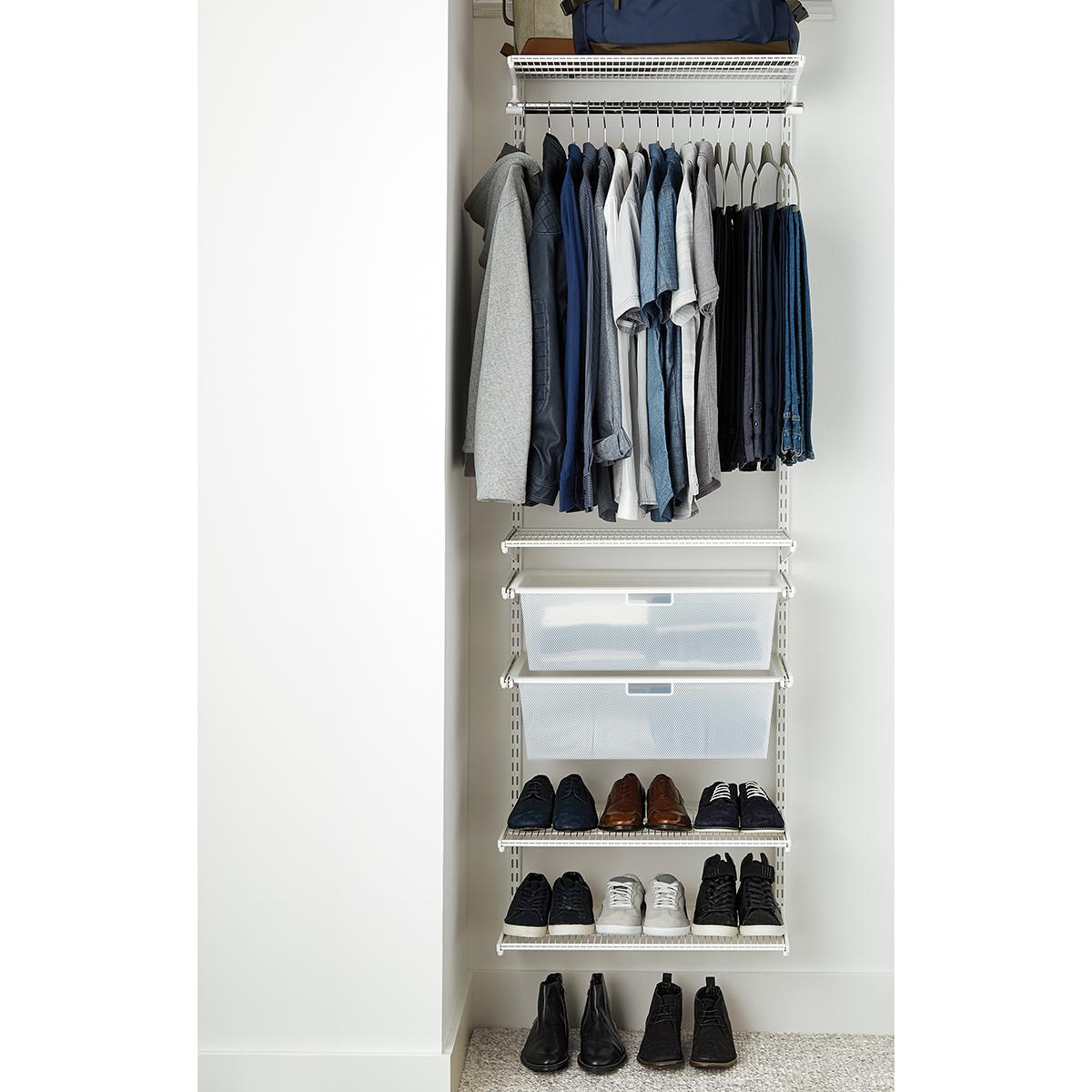 Elfa Classic 2 White Small Reach In Closet