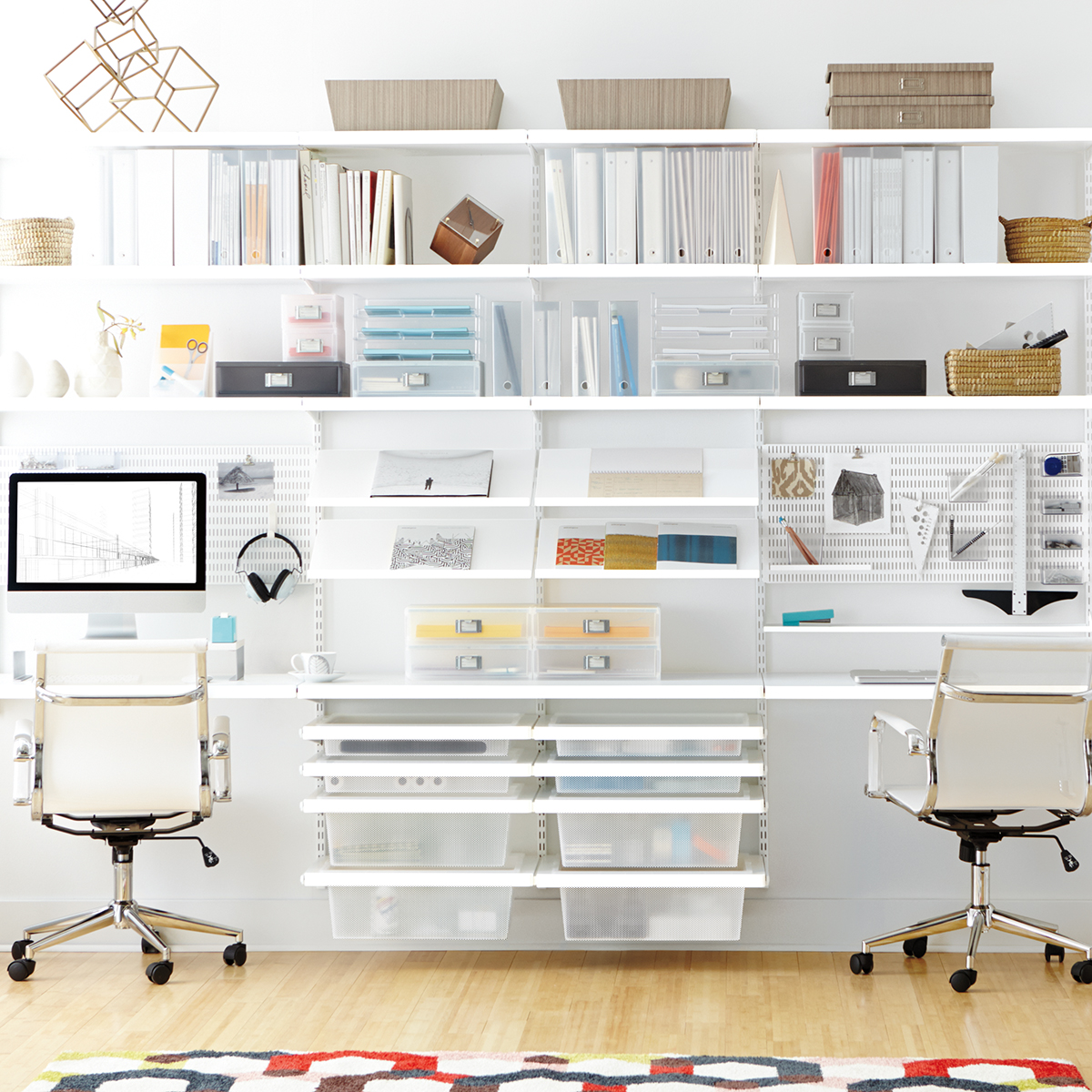 Picture of: White Elfa Decor Office The Container Store