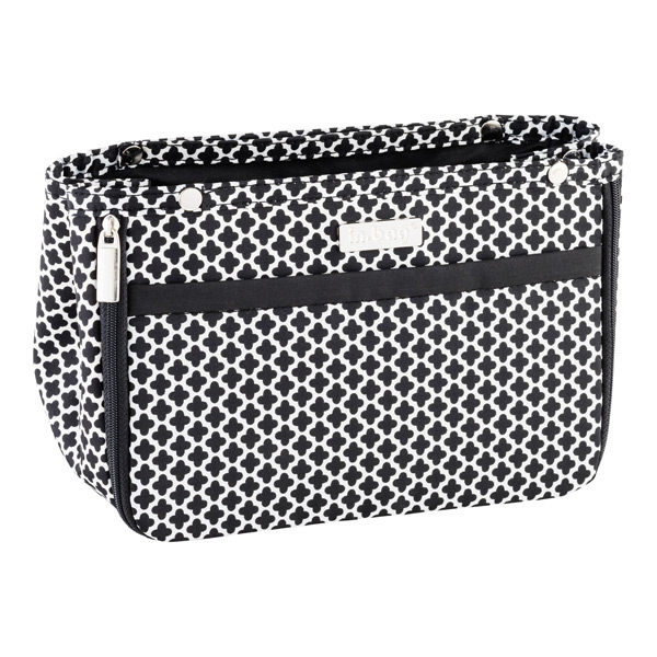 In Bag Black Moroccan Purse Organizer