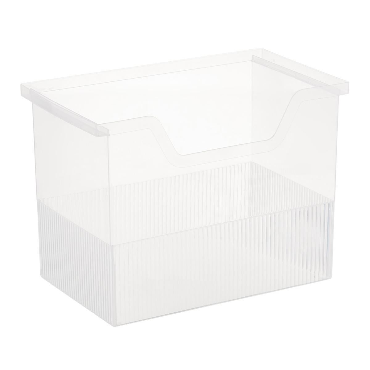 Clear Open Top File Storage Bo The