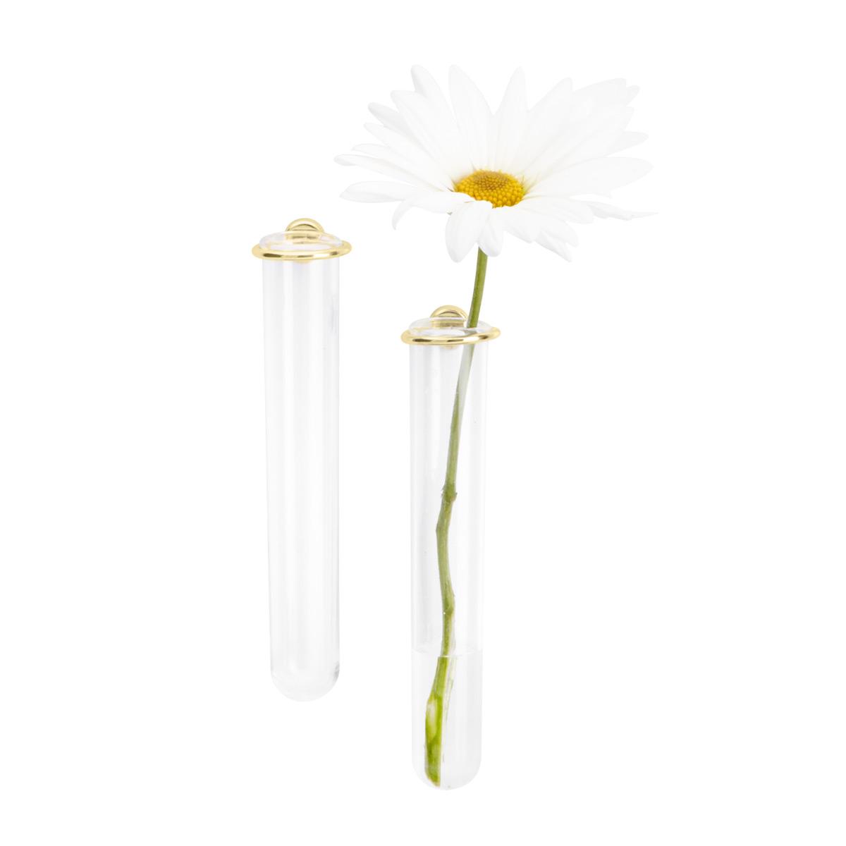 225 & Three by Three Gold Magnetic Flower Vase Pkg/2