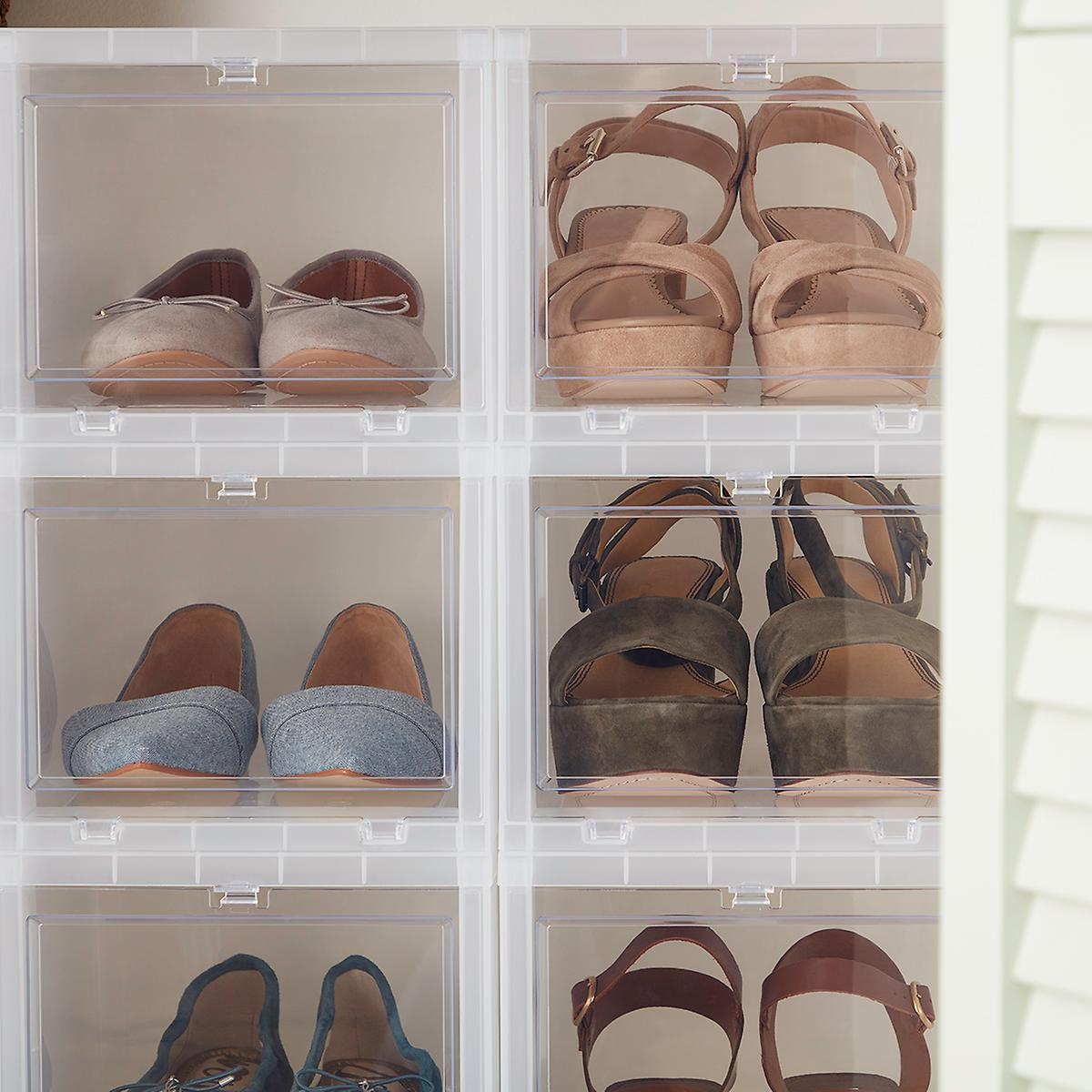 Phenomenal The Container Store Small Drop Front Shoe Box Download Free Architecture Designs Fluibritishbridgeorg