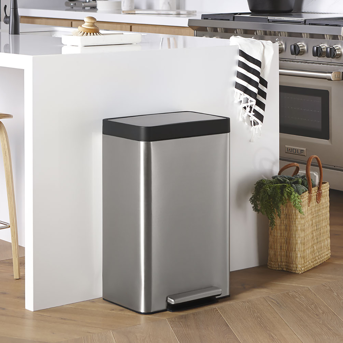 Picture of: Kohler Stainless Steel 13 Gal Step Trash Can The Container Store