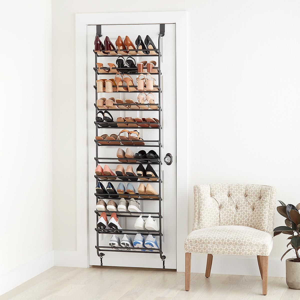 Graphite 12 Tier Over The Door Shoe Rack The Container Store