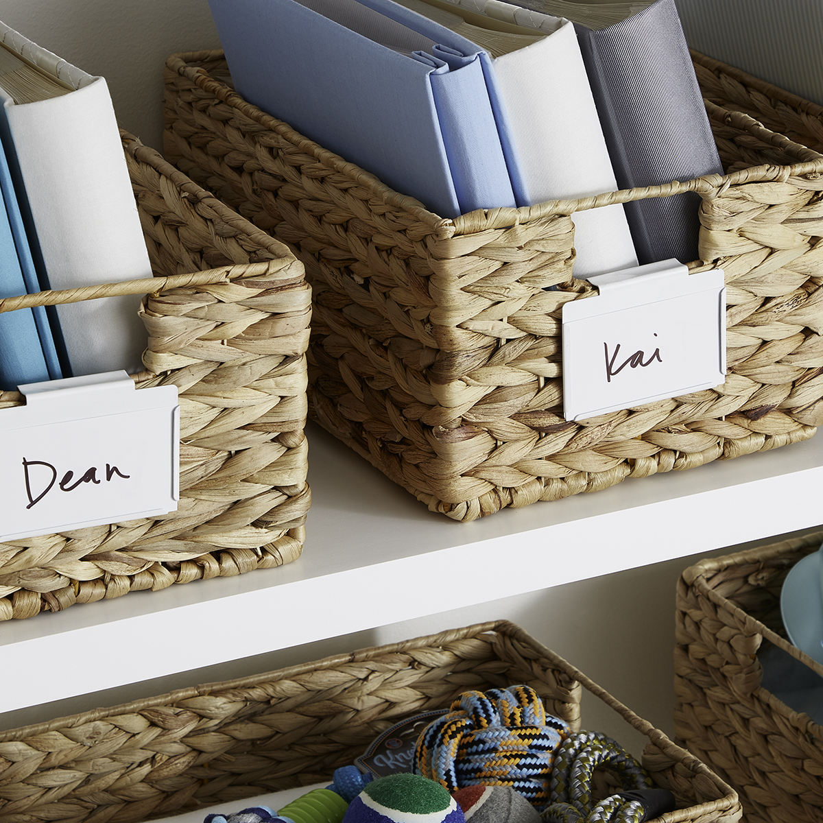 Picture of: White Bin Clip Labels The Container Store