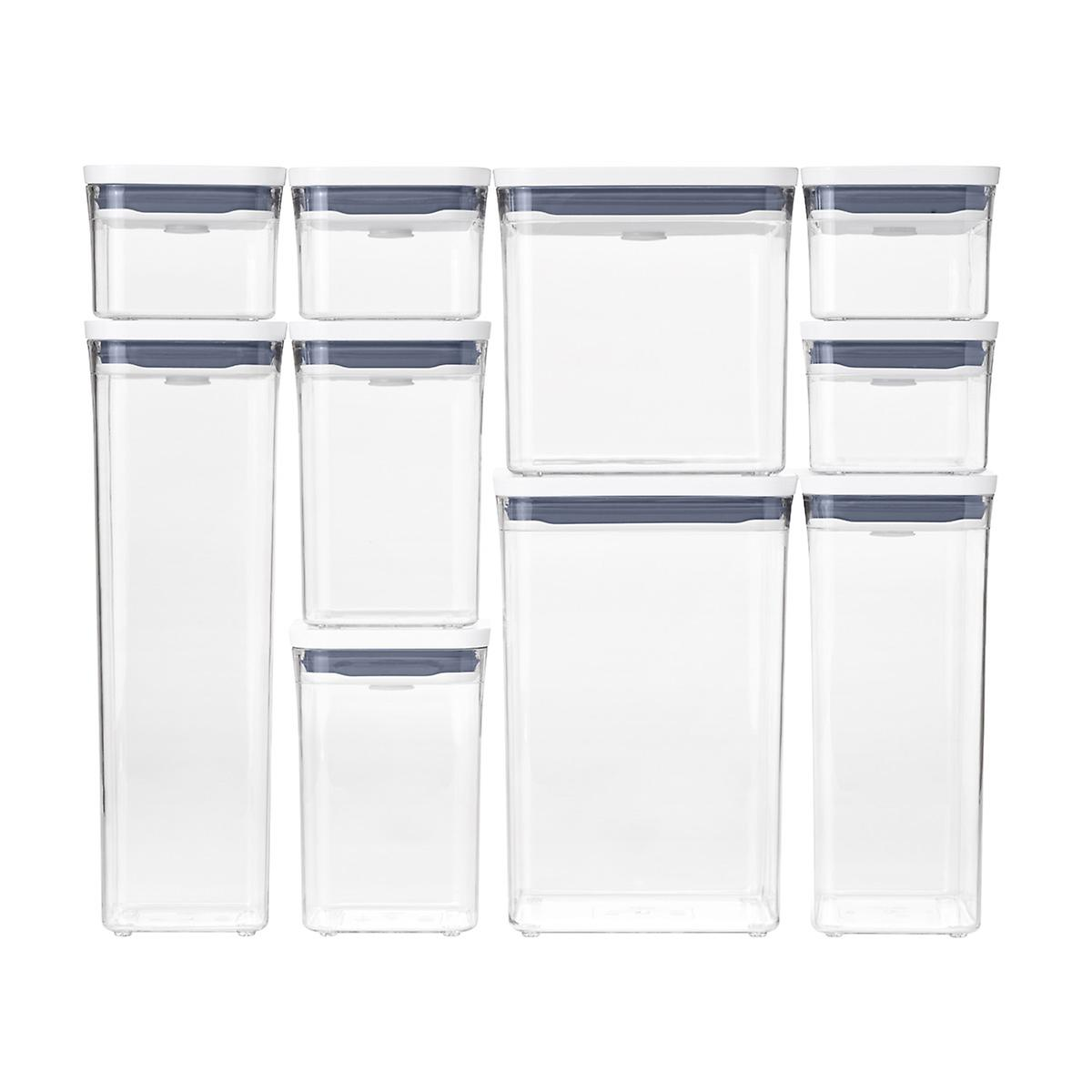 Oxo Good Grips Pop 10 Piece Canisters The Container Store