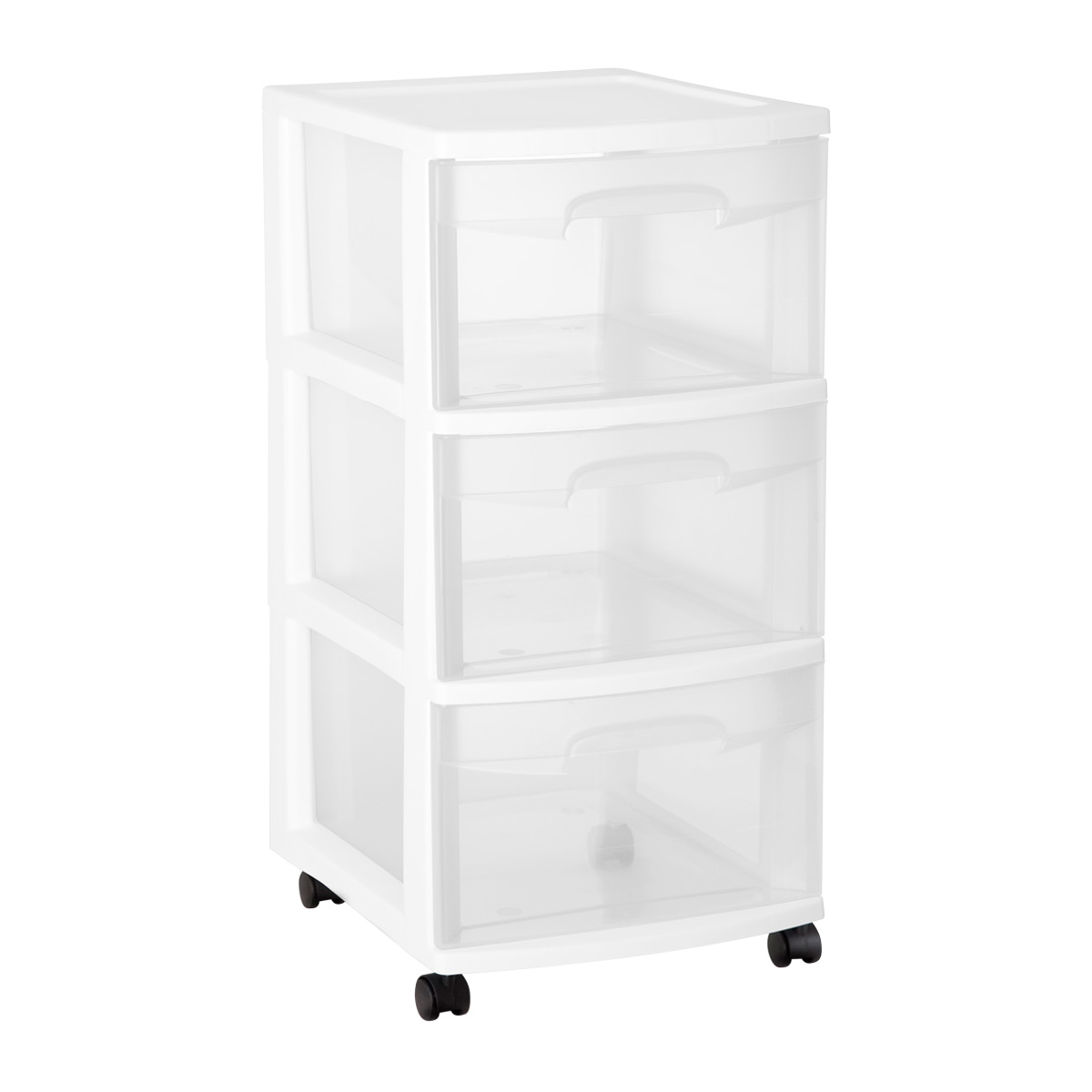 Sterilite 3 Drawer Chest With Wheels The Container Store